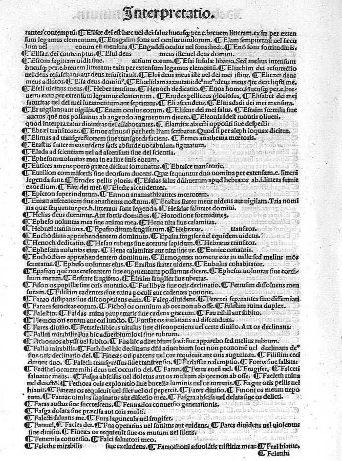 listado de interpretación de los nombres, de 1498, página 10