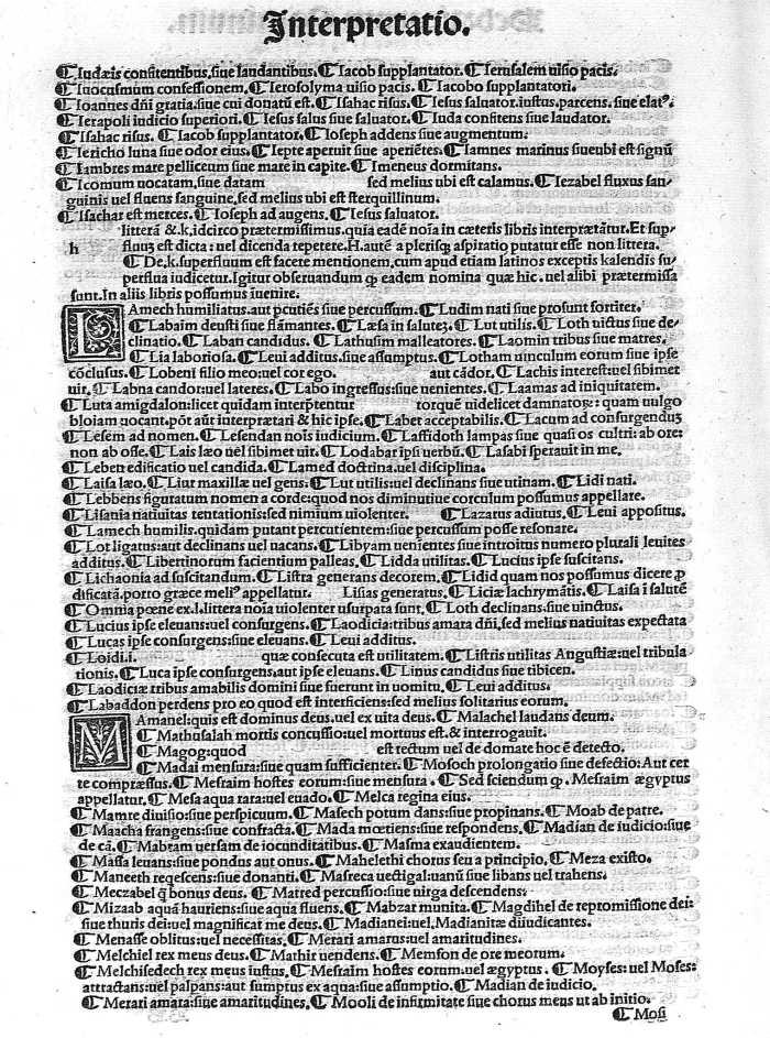 listado de interpretación de los nombres, de 1498, página 14